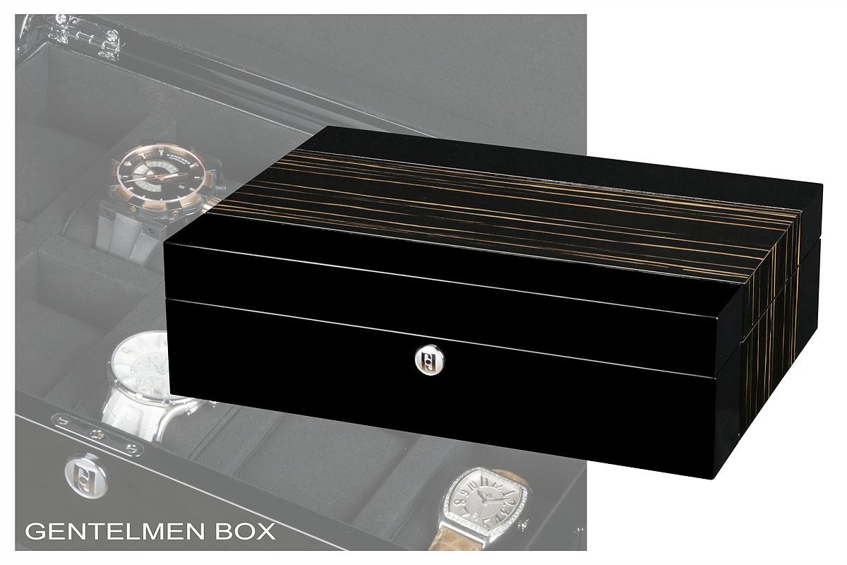 Премиальная шкатулка для хранения 10 часовШкатулки для хранения часов<br>Новое слово от компании PAUL DESIGN в мире Шкатулки для часов. Прекрасное соотношение цены и качества!<br><br>Шкатулка изготовлена из элитного дерева. Изумительное сочетание фактуры венге и дерева 3D. Внутренние поверхности выстланы мягкой микрофиброй черного цвета. Фирменная упаковка и хромированная фурнитура от Paul Design.<br><br>Идеально подойдет для хранения наручных часов практически  любых размеров. Размер подушечки 5,5 см, окружность 20,5 см.<br><br>Гарантия: фирменная 18 месяцев<br>Материал: дерево<br>Тип: шкатулка для хранения часов